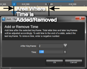Add time area